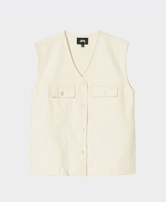 Stussy Stussy Canvas Work Vest Natural