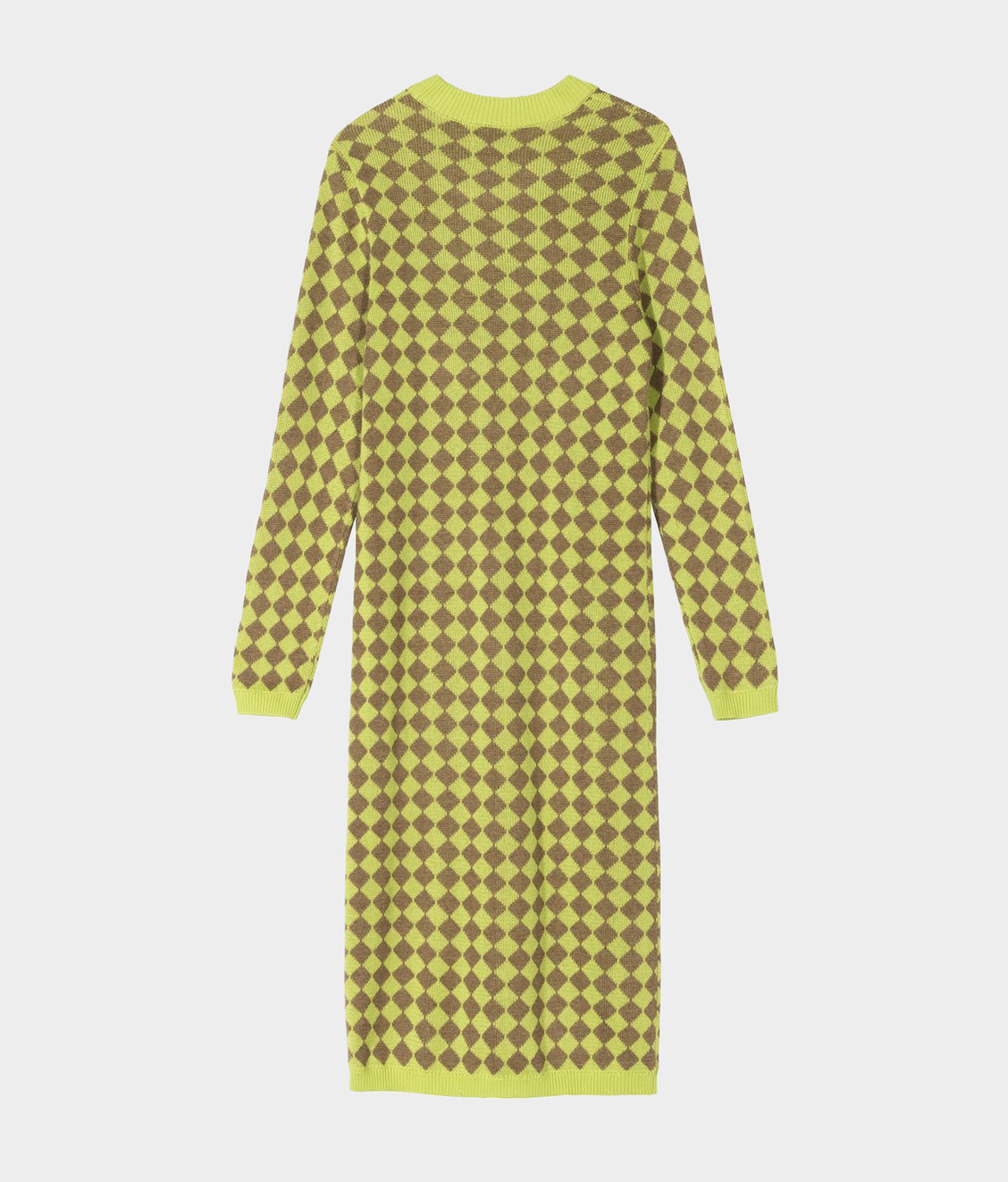Stussy Stussy LS Melange Checker Dress Lime