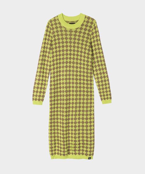 Stussy LS Melange Checker Dress Lime