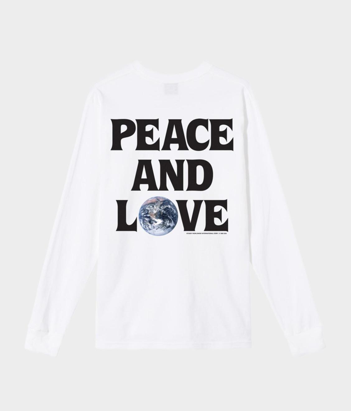 Stussy Stussy Peace & Love LS Tee White