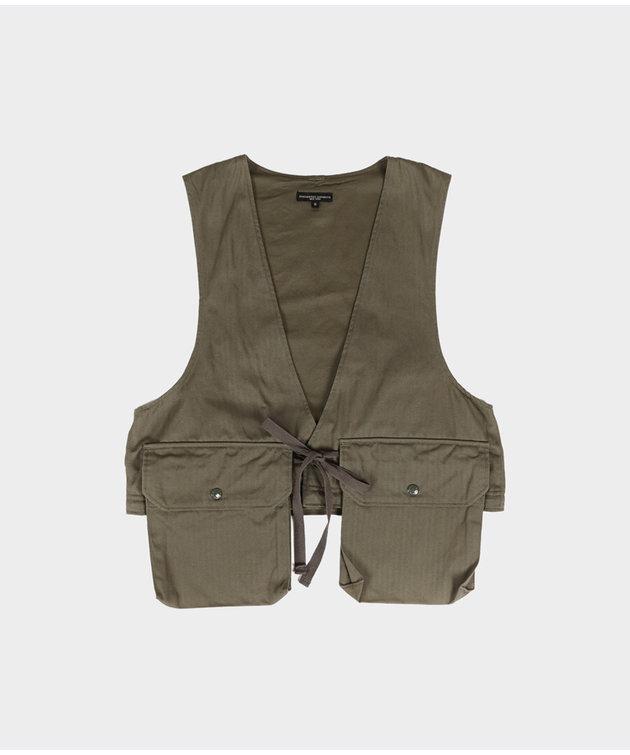 Engineered Garments Engineered Garments Long Fowl Vest Olive