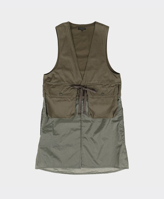 Engineered Garments Long Fowl Vest Olive