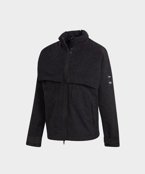 Y-3 CH3 Melton Gore-Tex Hooded Jacket Black