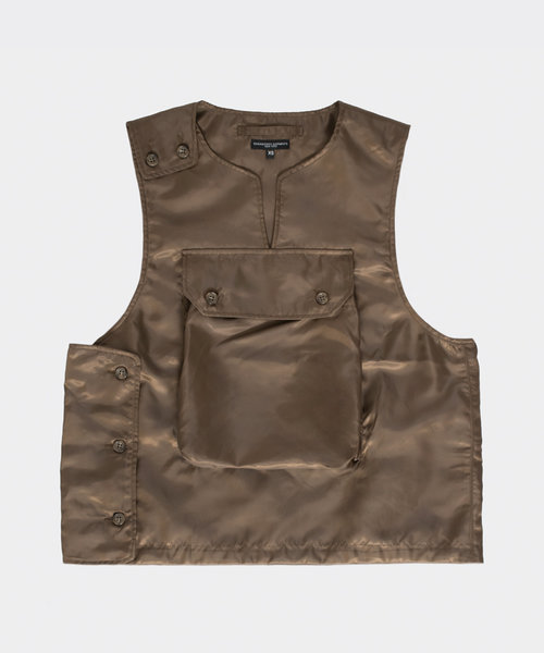 Engineered Garments Cover Vest Brown Polyester