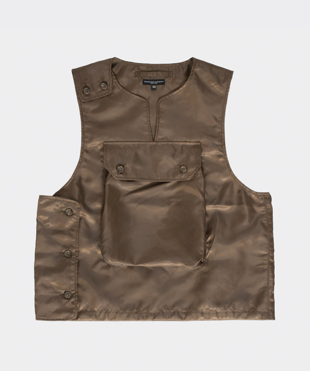 Engineered Garments Engineered Garments Cover Vest Brown Polyester
