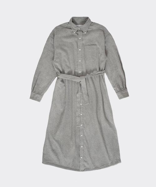 Engineered Garments BD Shirt Dress Light Grey