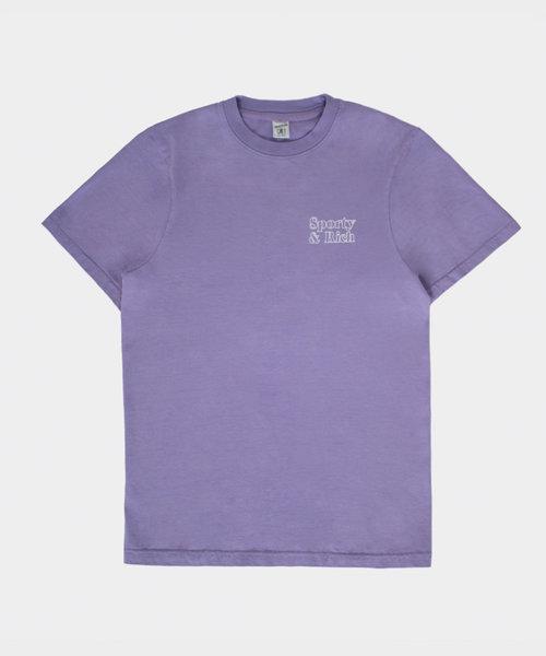 Sporty & Rich Fun Logo T-shirt Lilac