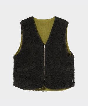 Stussy Stussy Wide Wale Reversible Vest Green
