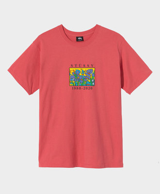 Stussy Stussy Irises Tee Pale Red