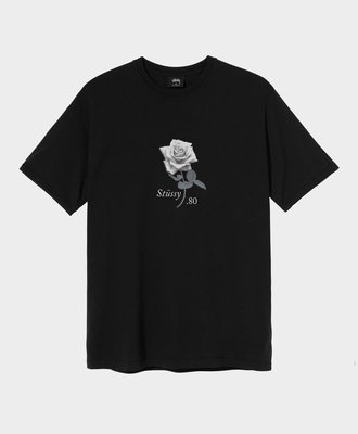 Stussy Stussy 80 Rose Pig. Dyed Tee Black