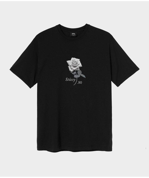 Stussy Stussy Rose Pig. Dyed Tee Black