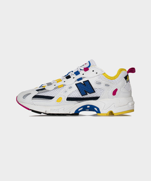 New Balance 827 White/Atomic Yellow