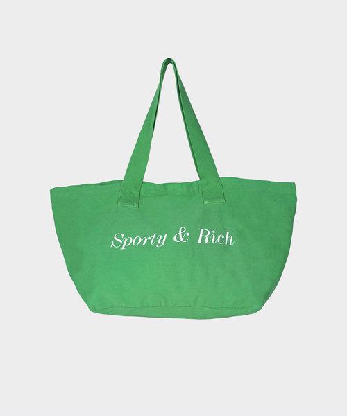 Sporty & Rich Classic Logo Tote Pistachio