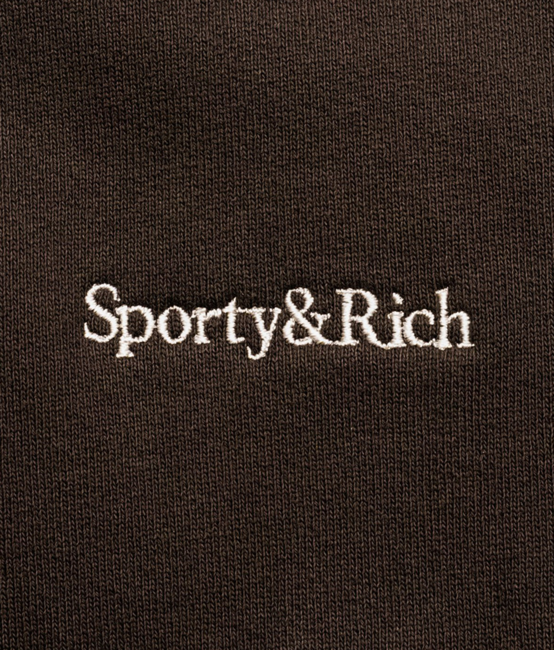 Sporty and Rich Sporty & Rich Serif Logo Crewneck Chocolate