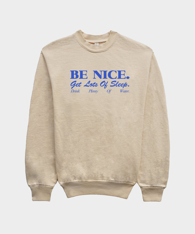 Sporty and Rich Sporty & Rich Be Nice Crewneck Cream