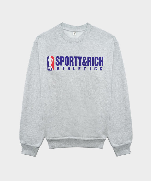 Sporty and Rich Sporty & Rich Team Logo Crewneck Heather Gray