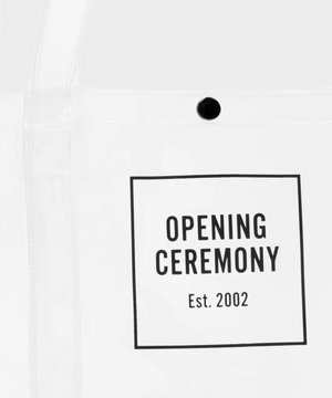Opening Ceremony OC Box Logo Medium Size Shopper Transparent