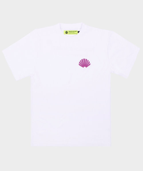 New Amsterdam Logo Tee White Purple
