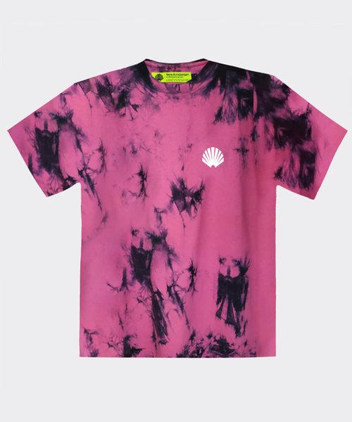 New Amsterdam Logo Tee Tie Dye Pink
