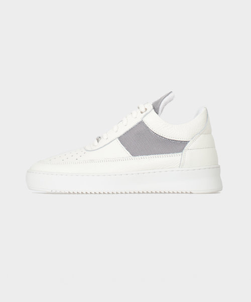 Filling Pieces Low Top Ripple Game White