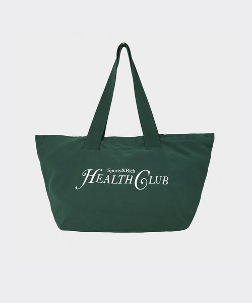 Sporty & Rich Rizzoli Tote Forest Green