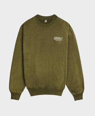 Sporty and Rich Sporty & Rich Upper East Side Crewneck Olive
