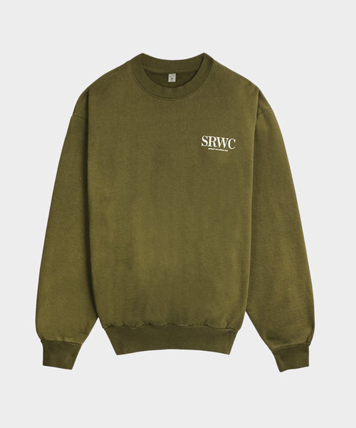Sporty & Rich Upper East Side Crewneck Olive