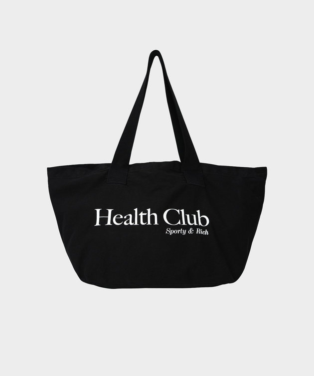Sporty and Rich Sporty & Rich Health Club Tote Black