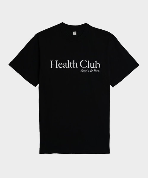 Sporty & Rich Health Club T Shirt Black