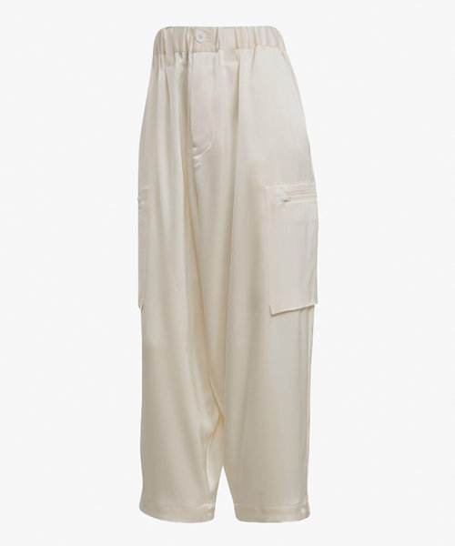 Y-3 CH3 Tech Silk Cargo Pants White