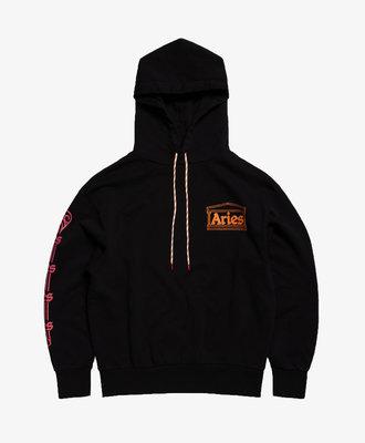 Aries Aries Column Hoodie Black