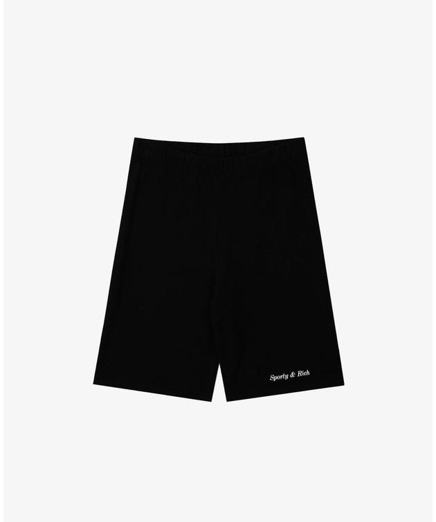 Sporty and Rich Sporty & Rich Classic Logo Biker Short Black