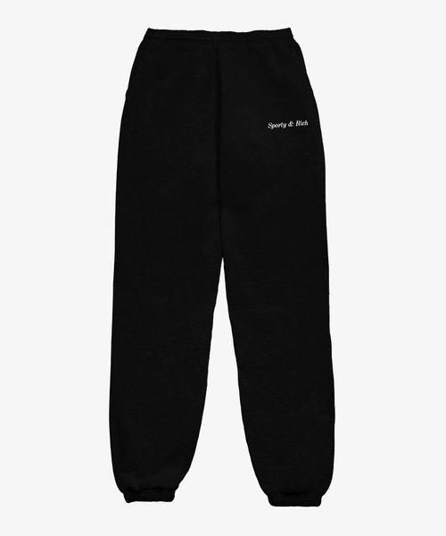 Sporty & Rich Classic Logo Sweatpant Black