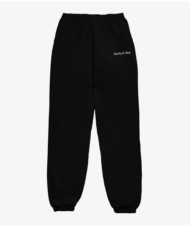 Sporty and Rich Sporty & Rich Classic Logo Sweatpant Black
