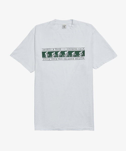 Sporty & Rich Cycling Club T-Shirt White