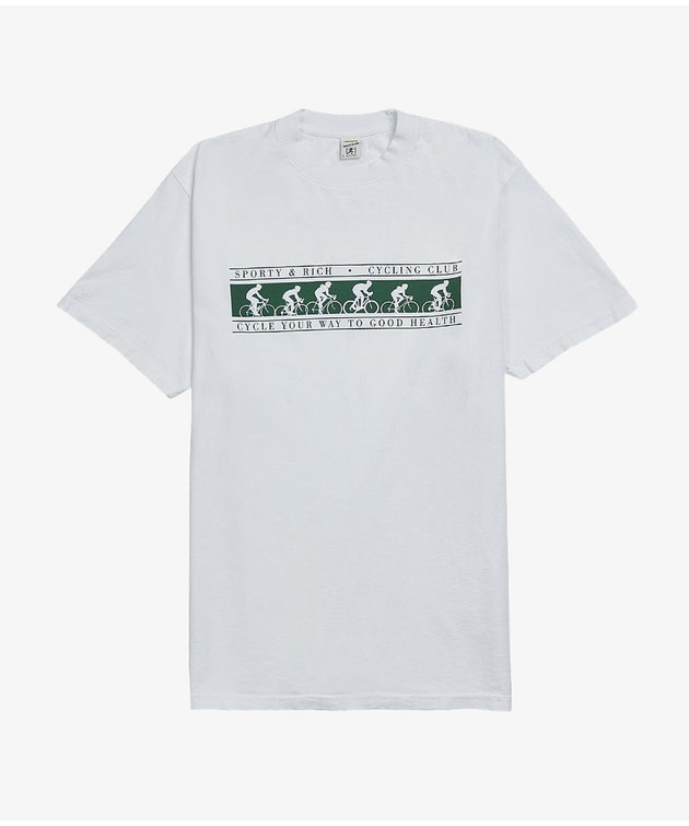 Sporty and Rich S & R Cycling Club T-Shirt White