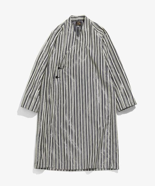 Needles Kimono Coat Lame Twill Jq. Herringbone