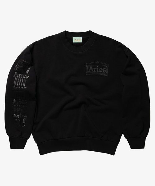 Aries Column Sweatshirt Black