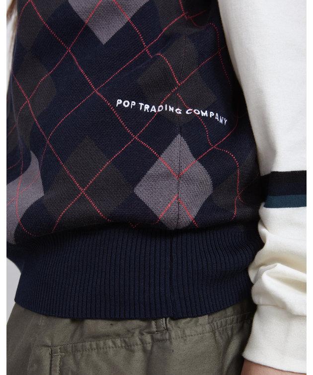POP Trading Company POP Burlington Knitted Spencer Navy