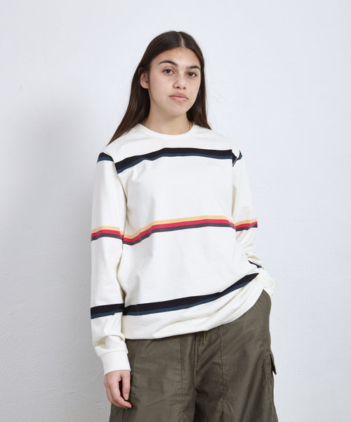 POP Striped Longsleeve Tee Off White