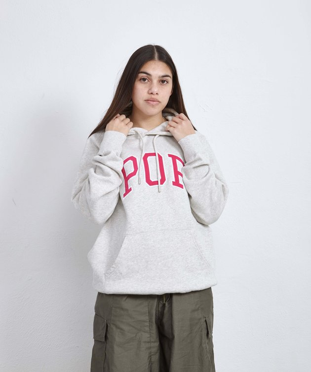 POP Trading Company POP Arch Hooded Sweat Offwhite Heather