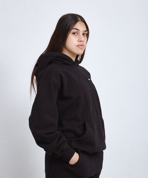 Sporty and Rich S & R Classic Logo Hoodie Black