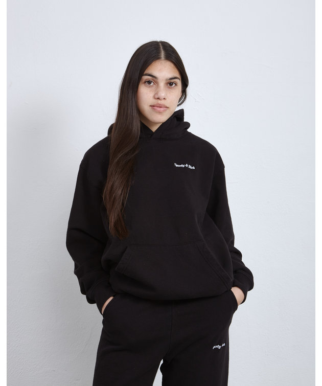 Sporty and Rich Sporty & Rich Classic Logo Hoodie Black