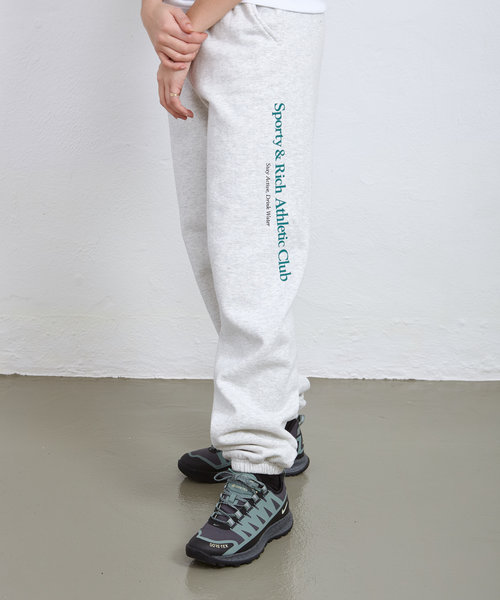 Sporty & Rich Athletic Club Sweatpants Heather Grey