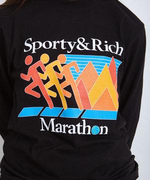 Sporty and Rich Sporty & Rich Marathon Longsleeve Black