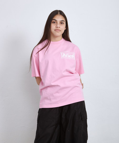 Aries Temple SS Tee Pink