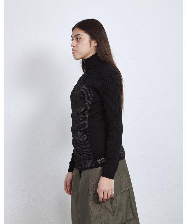 Y-3 Y-3 W CH1 Reflective Knit Sweater Black