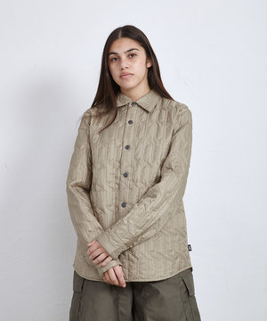 Stussy Stussy Quilted Insulated Ls Shirt Beige