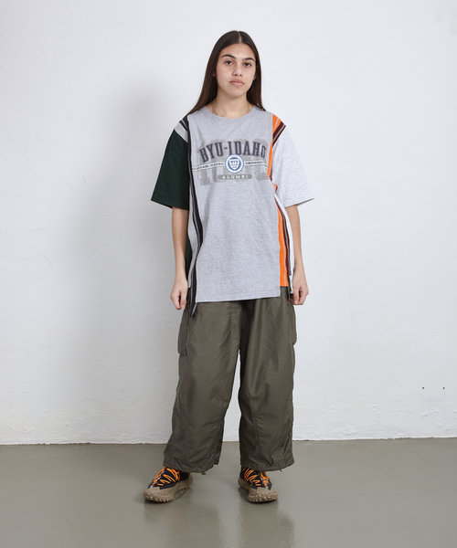 Rebuild by Needles 7 Cuts Wide Tee College ONE SIZE