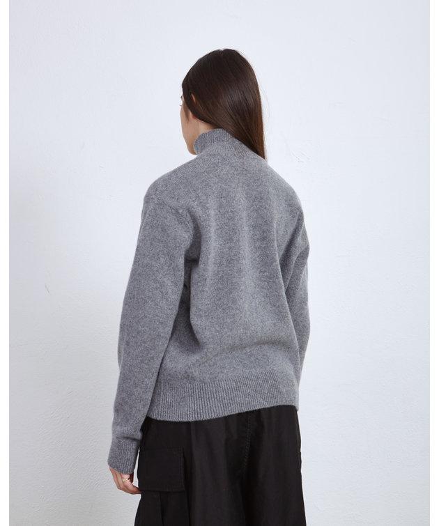 Maison Kitsune Kitsune High Collar Pullover Dark Navy